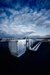 rooftop hvac unit on top of commercial building